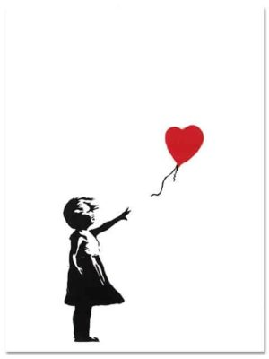 Girl With Balloon by Banksy   Unframed Canvas Art