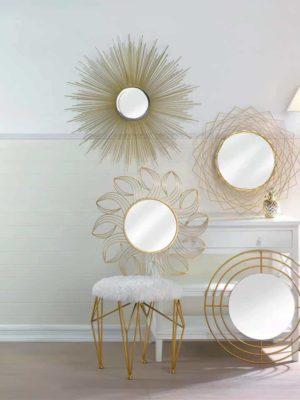 Bon Appétit Elegance Large Golden Rays Sunburst + Mirror