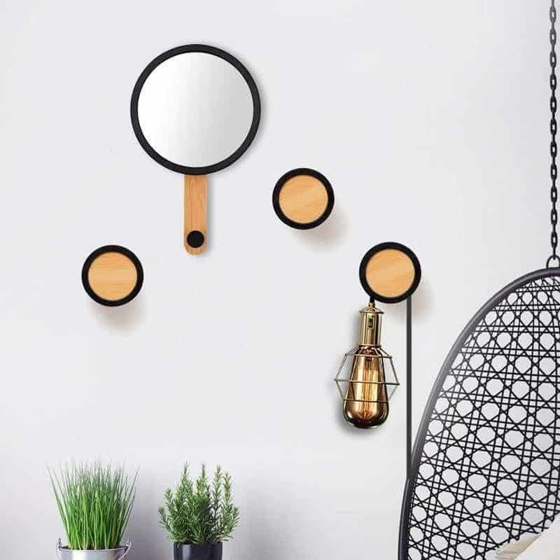 Yorror Wall Hanging Mirror & Hook