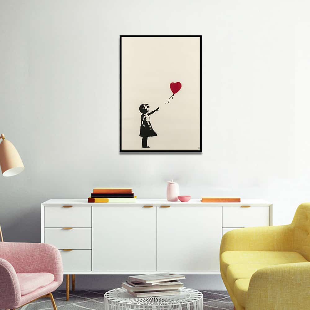Girl With Balloon by Banksy | Unframed Canvas Art