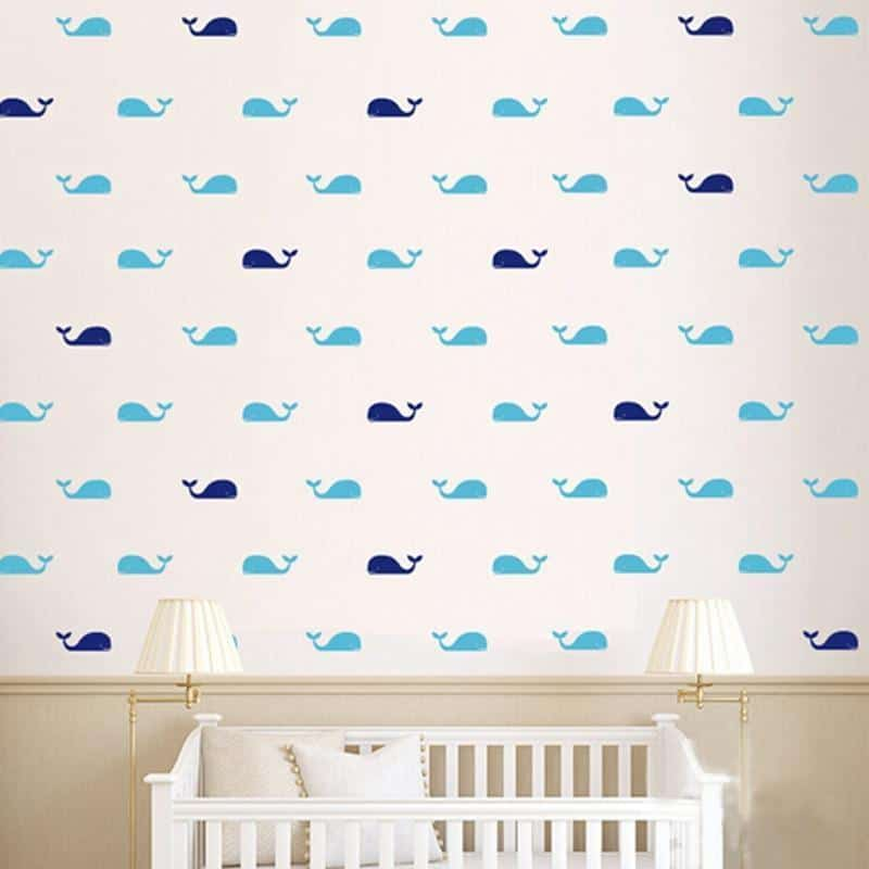 Fish Whales Wall Sticker 60pcs