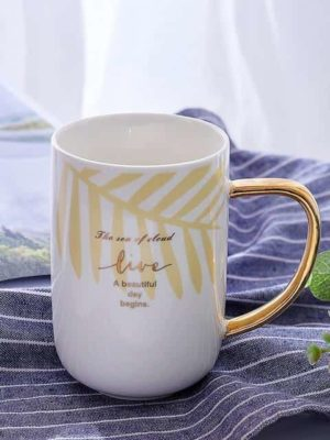 Rainbow Mug / Gold Handle