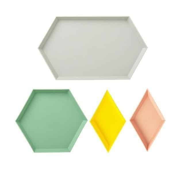 Kaleidoskop Hexagonal Trays 4pcs