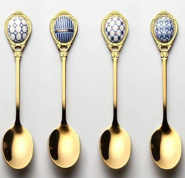Gold Dessert Teaspoon by Ingrid | Romantic Vintage