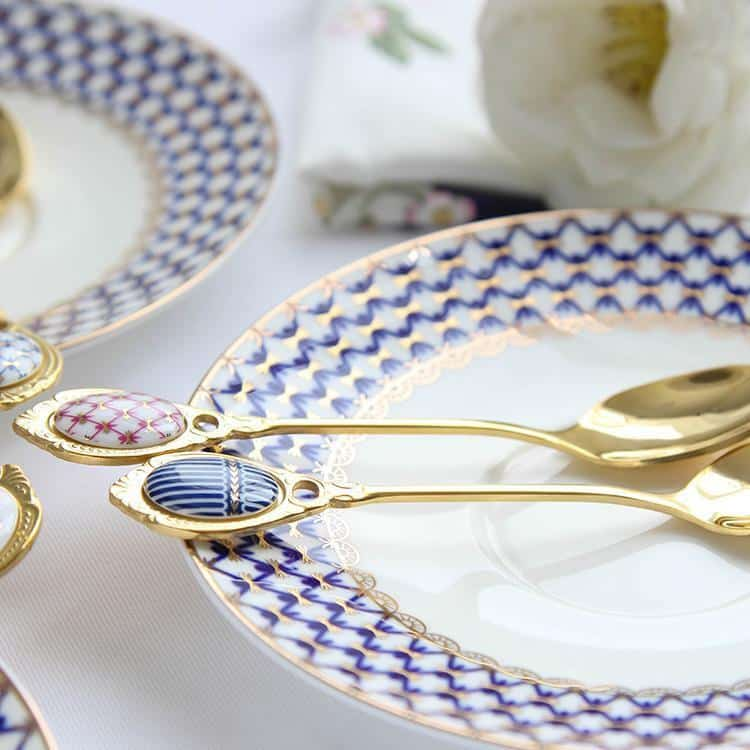 Gold Dessert Teaspoon by Ingrid | Romantic Vintage