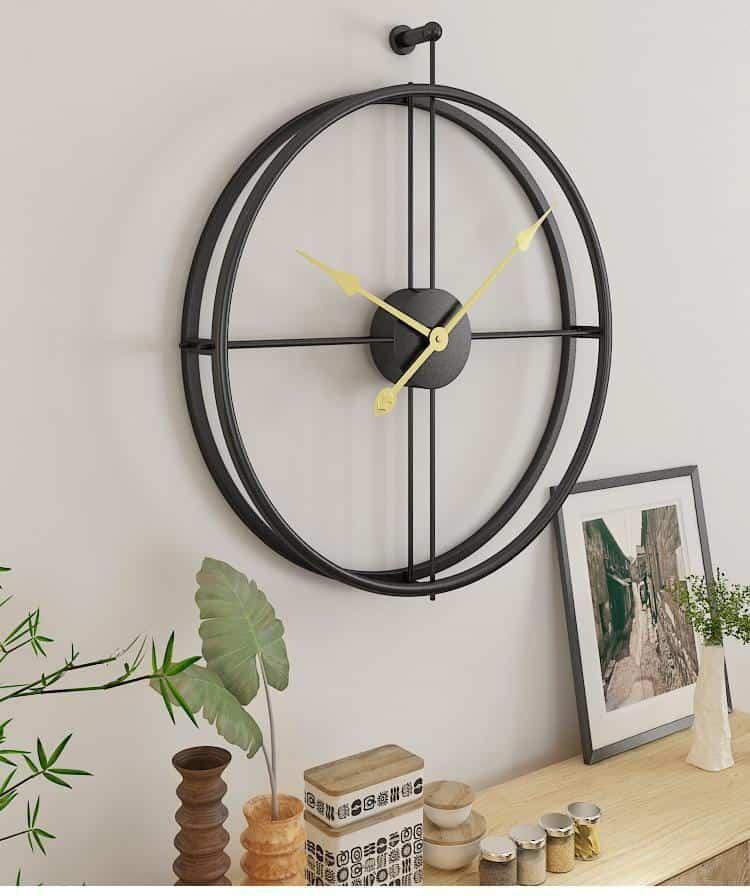 Silent by Frederick Vaux /wall clock Wall clock Gold Dot