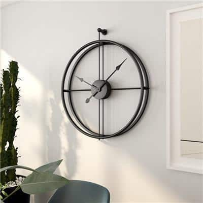 Silent by Frederick Vaux /wall clock Wall clock Pure Black