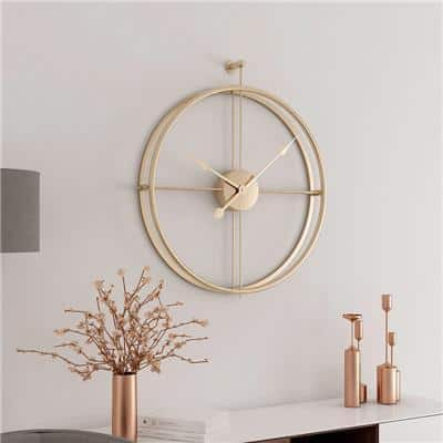 Silent by Frederick Vaux /wall clock Wall clock Clear Gold