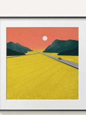 Abstract Mountains | Unframed Canvas Art