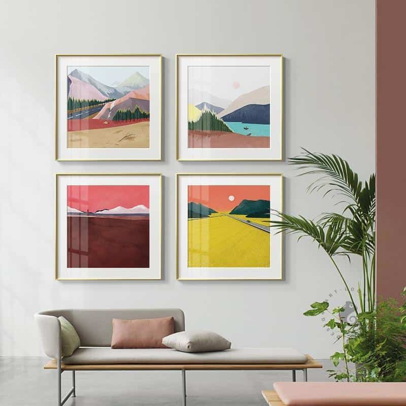 Abstract Mountains | Unframed Canvas Art