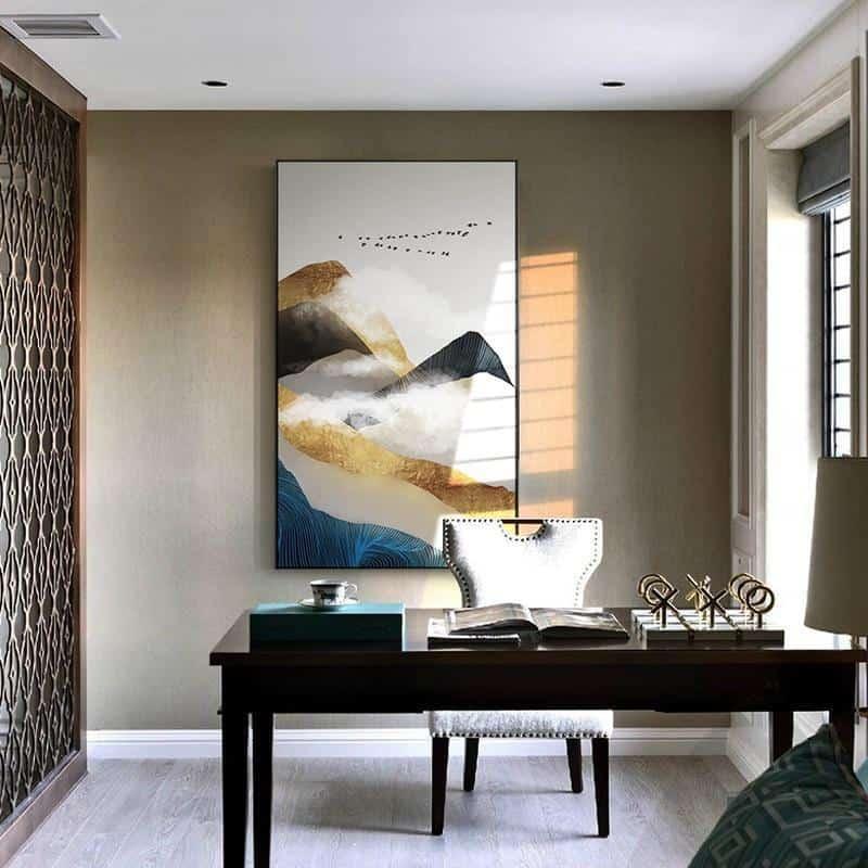 Golden Mountain & Cloud Canvas print - Wall Art