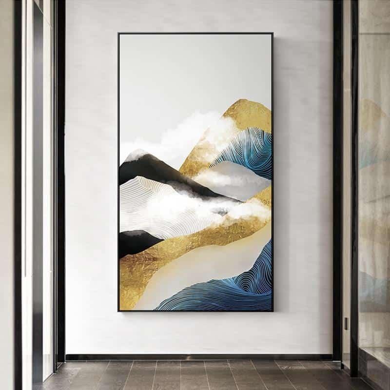 Golden Mountain & Cloud Canvas print - Wall Art B / 80x140cm