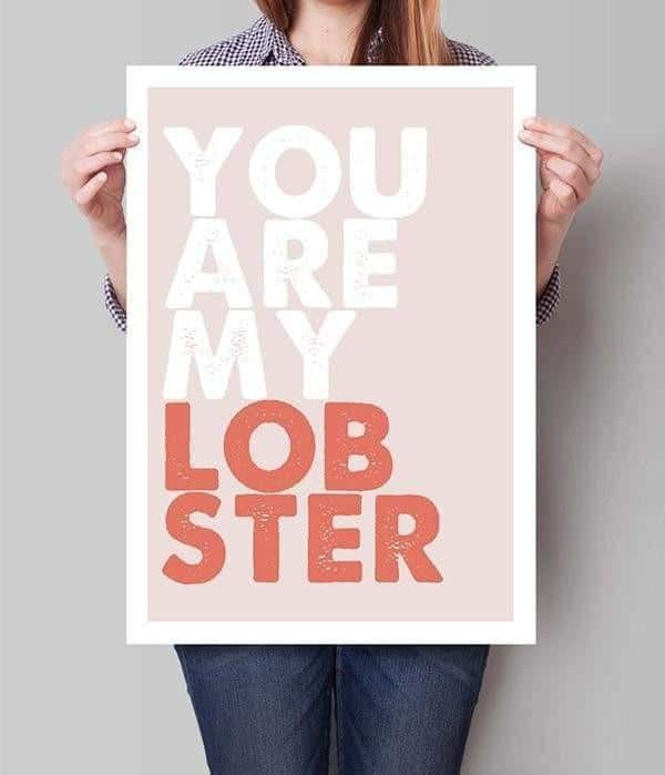 You Are My Lobster | Unframed Canvas Art unique and elegant Canvas print - Wall Art