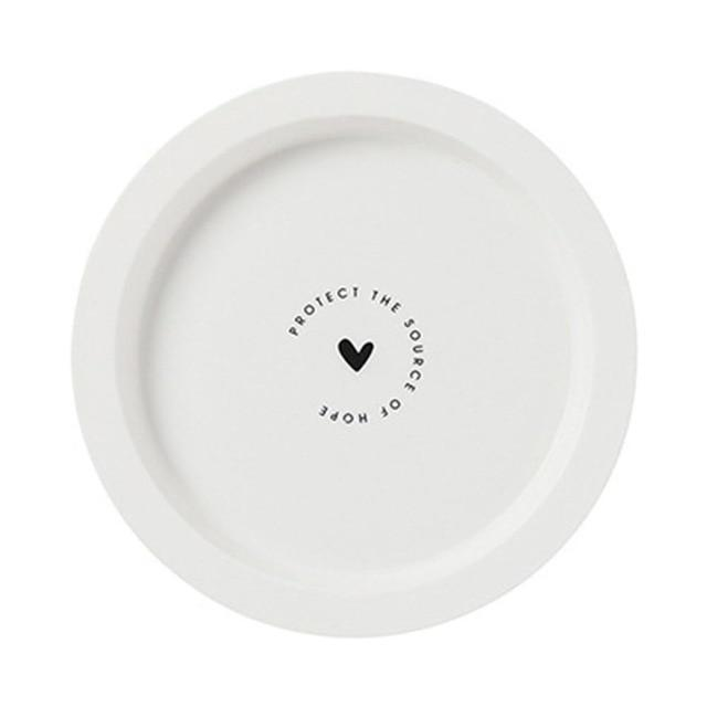 Tropical Melamine Plate | Black And White Dinnerware Plate