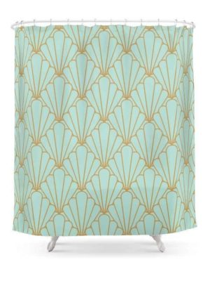 Mint Green Emerald Shower Curtain