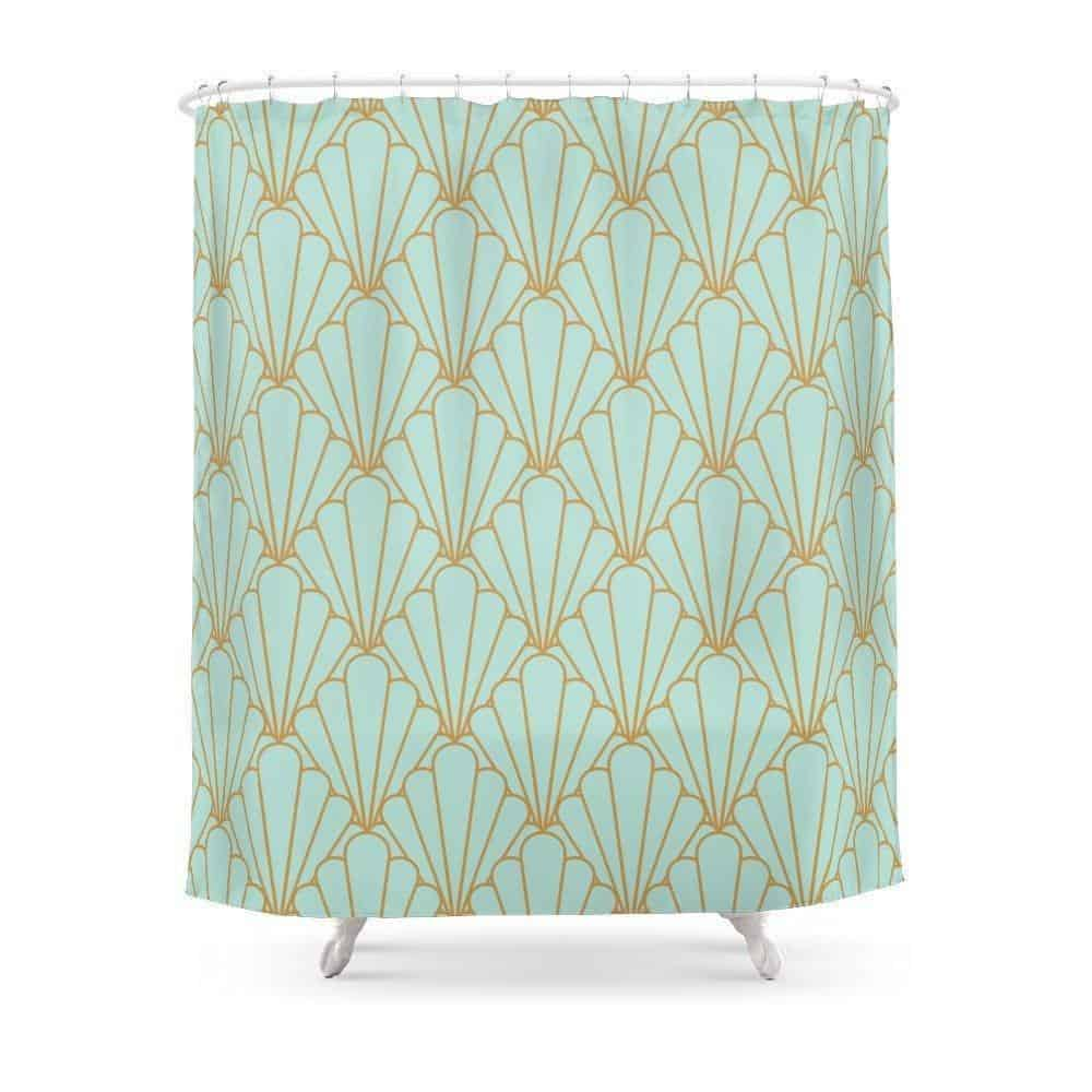 Mint Green Emerald Shower Curtain Shower curtain 180x180cm