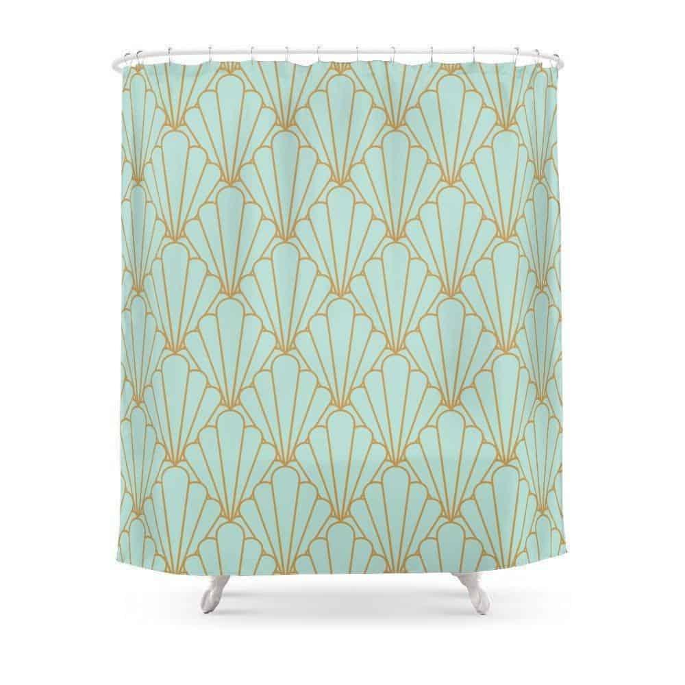 Mint Green Emerald Shower Curtain Shower curtain 180x180cm