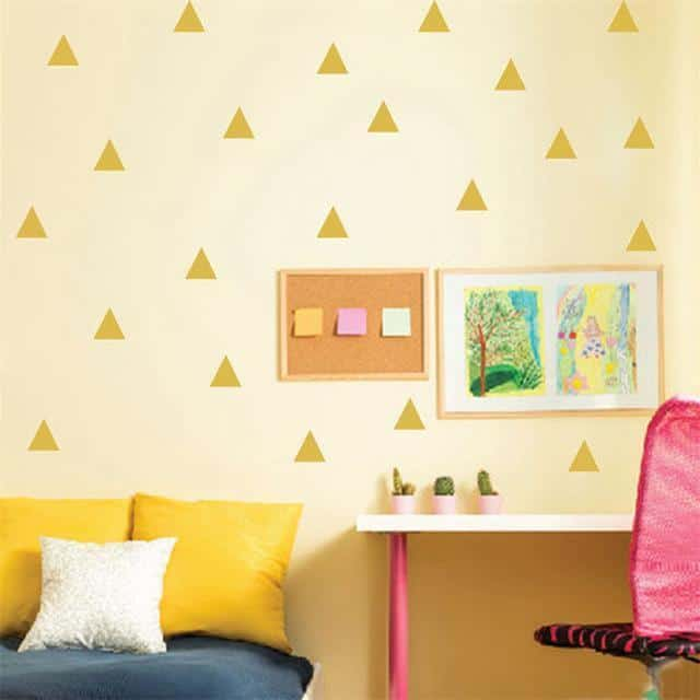 Triangles by Henry Jacobsson Wall Sticker Gold