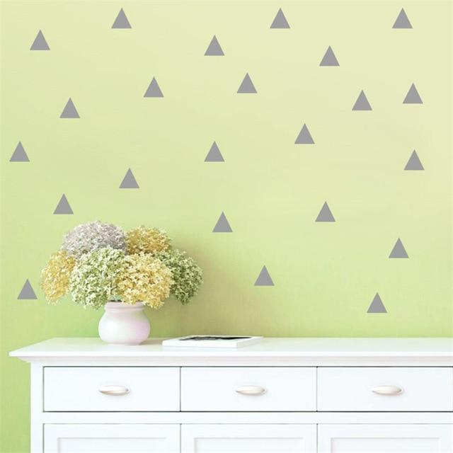 Triangles by Henry Jacobsson Wall Sticker Gray