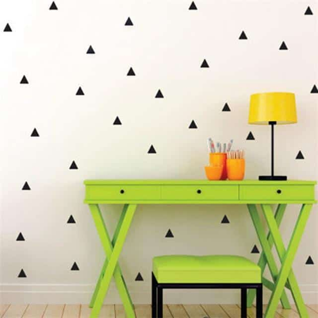 Triangles by Henry Jacobsson Wall Sticker Black