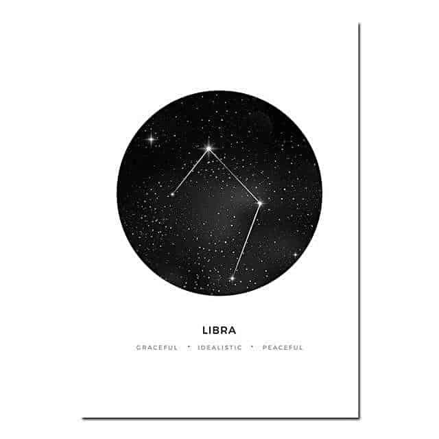Personal Horoscope | Zodiac Signs Canvas print - Wall Art Libra / 40x60cm