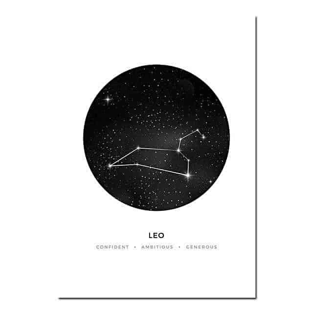 Personal Horoscope | Zodiac Signs Canvas print - Wall Art Leo / 40x60cm