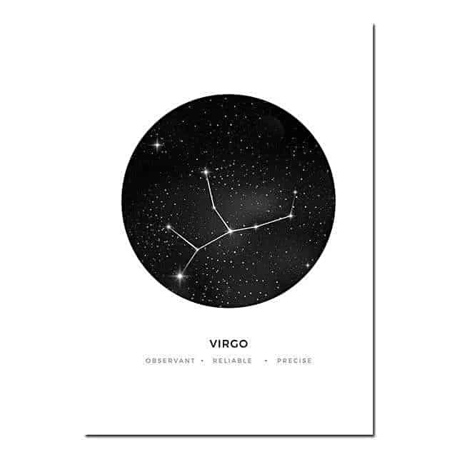 Personal Horoscope | Zodiac Signs Canvas print - Wall Art Virgo / 40x60cm