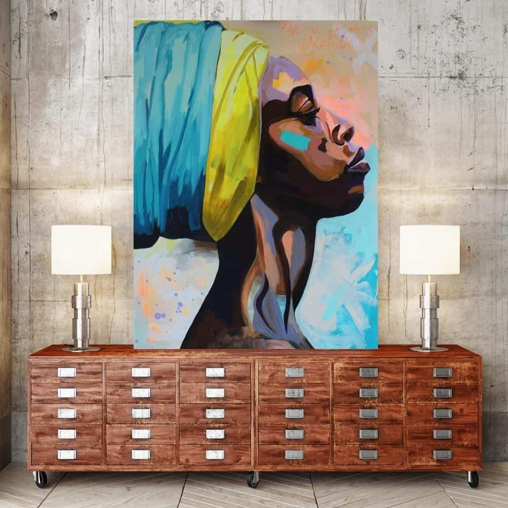 She Lives In Africa Canvas print - Wall Art