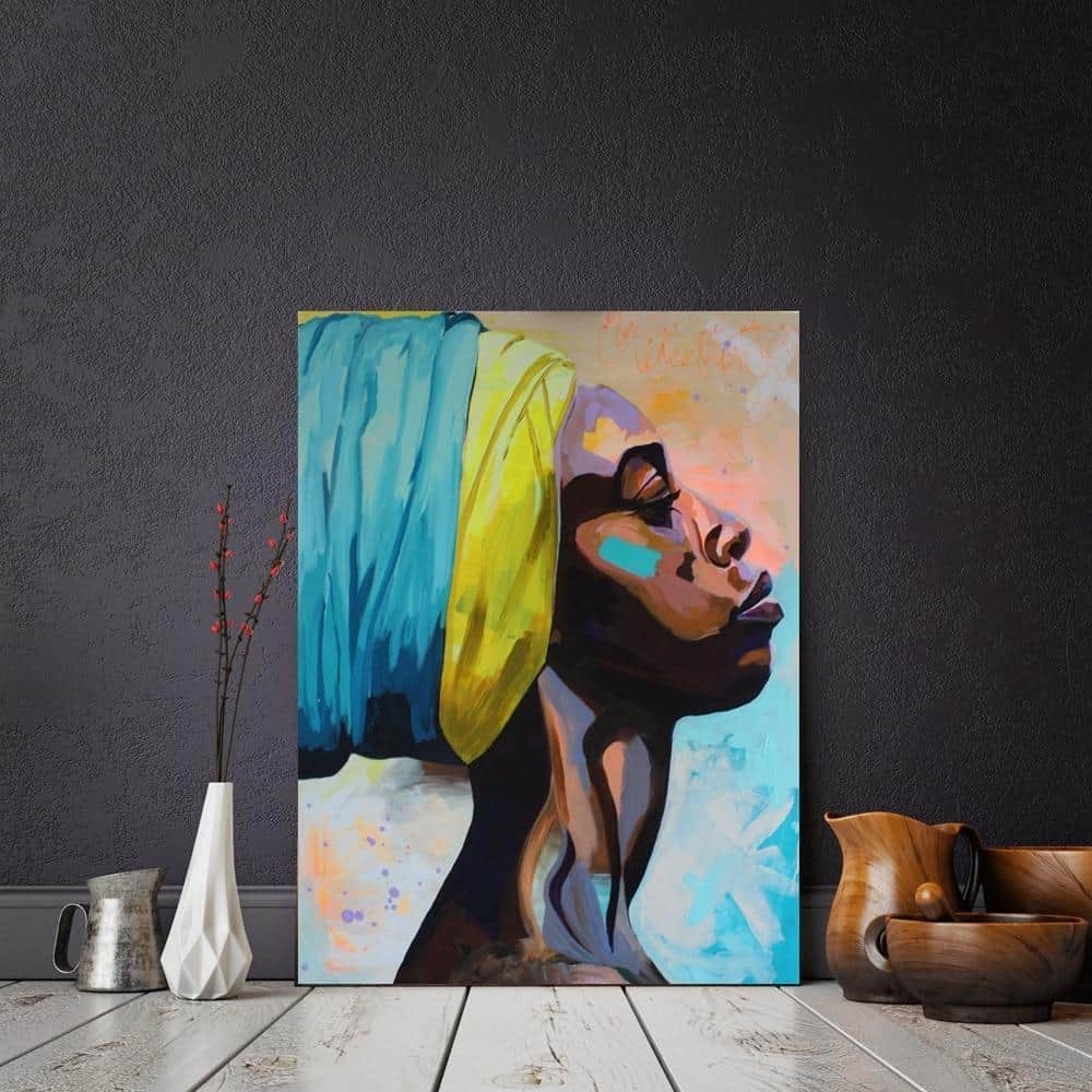 She Lives In Africa Canvas print - Wall Art 60x80cm