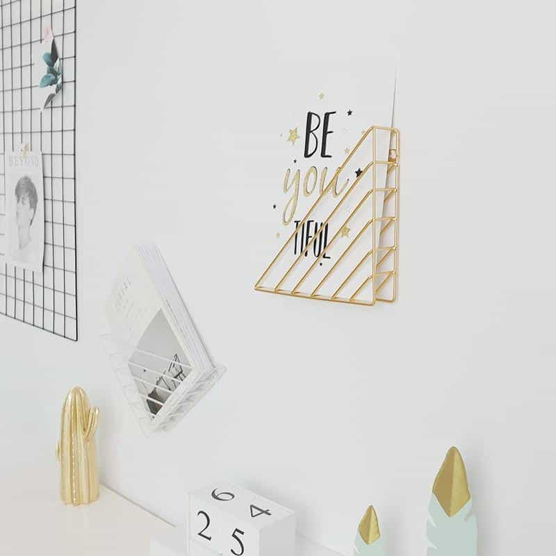 The Impress | Metal Wire Book Basket Shelf
