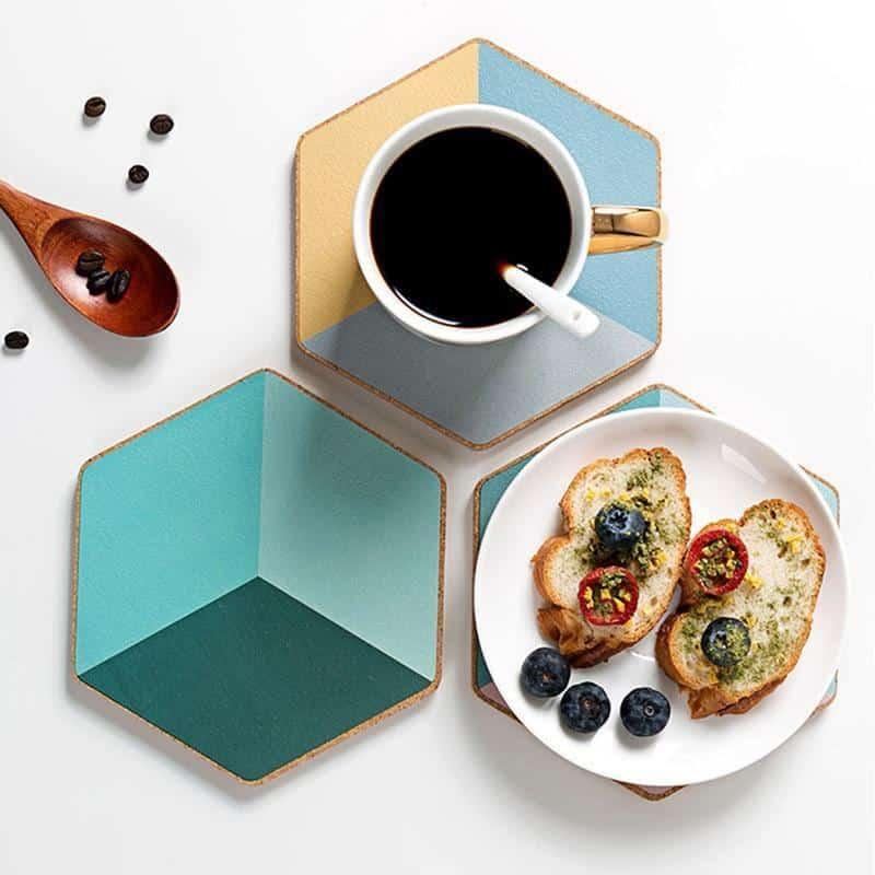 Geometric Placemat by Ingrid / 2pcs unique and elegant Coaster