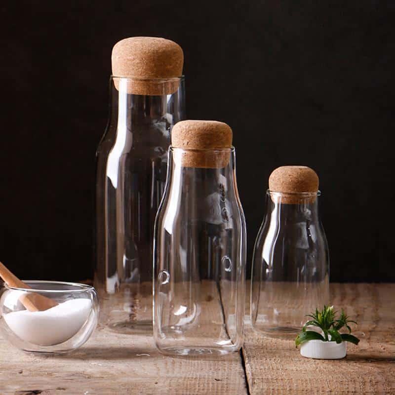 Theressa Glass Bottle /2pcs unique and elegant Glass bottle