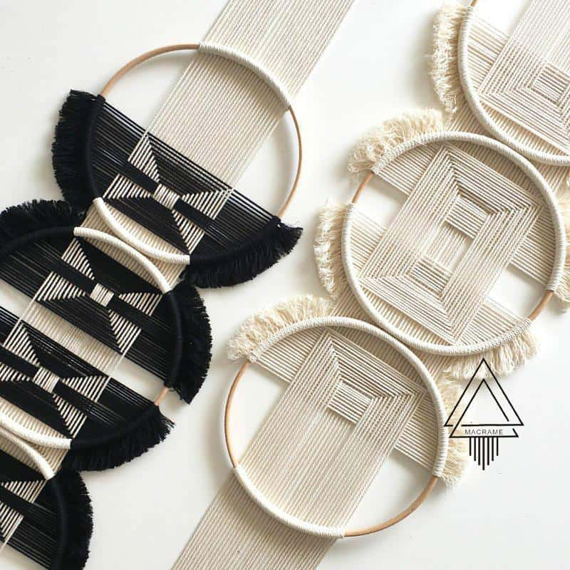 Mouffette by Ingrid Tapestry/Macrame