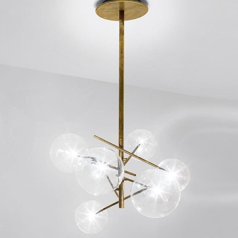 Incognito Mini Glass Globe Chandelier unique and elegant Pendant lighting