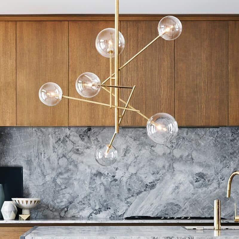 Incognito Mini Glass Globe Chandelier unique and elegant Pendant lighting 8 Heads