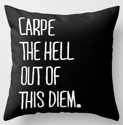 Carpe The Hell Out Of This Dream   Celiné Cushion Pillow