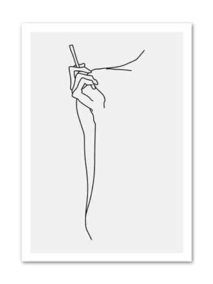 Picasso Body Line Art | Woman Line Drawing Scatch | Unframed Canvas Art