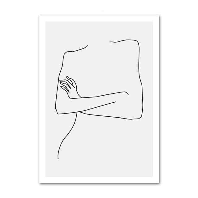 The Queen's Beauty Canvas print - Wall Art Silhouette of love / 60x100cm