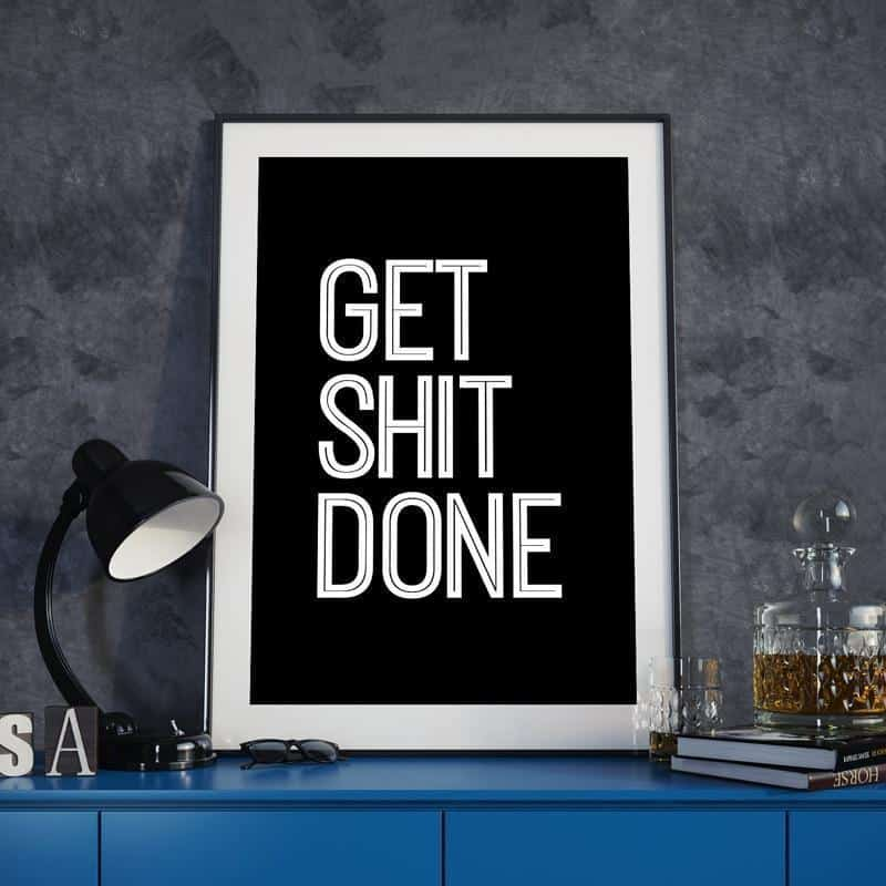 Harmony Tower | Get Shit Done | Unframed Canvas Art
