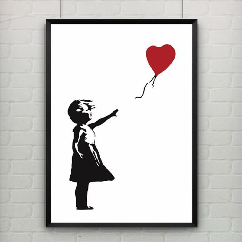 Girl With Balloon by Banksy Canvas print - Wall Art 20x30cm