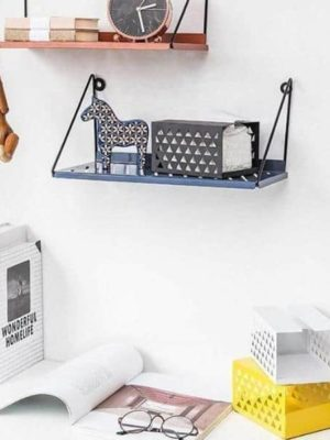 Industrial | Black Metal & Wire | Shields Shelf