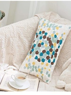 Cinnamon Colorful Dots Embroidery Cushion