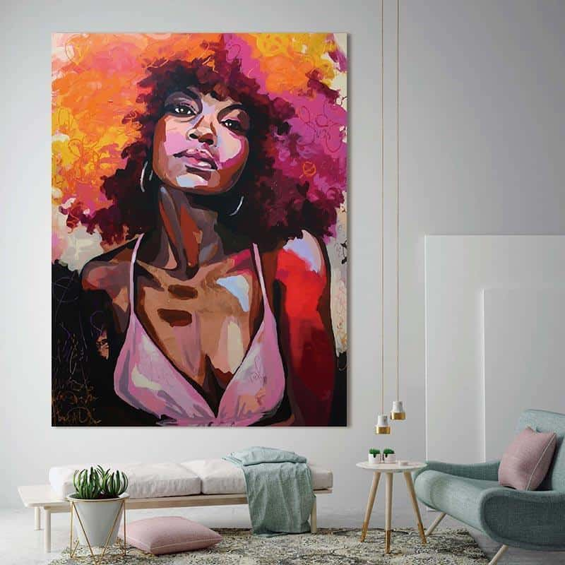 African Woman | Girl With An Attitude | Unframed Canvas Art