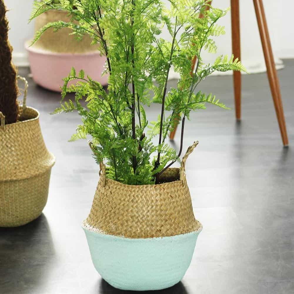 Linnéa by Sebastian Odenberg / Basket Plant pot Mint / 25X27cm