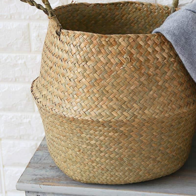 A close up of a basket