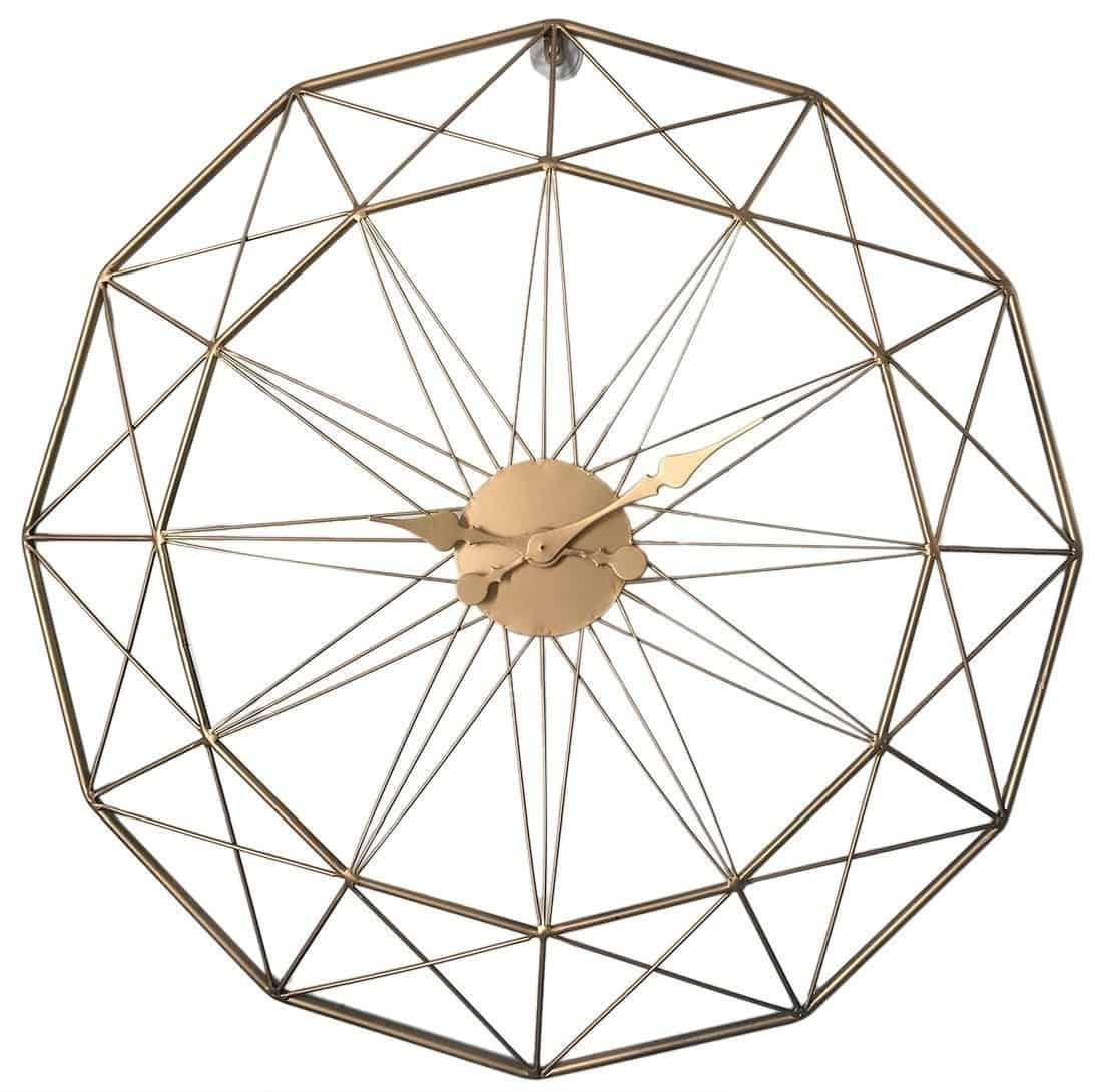 Aurora | Skeleton Wall Clock | Iron Wire