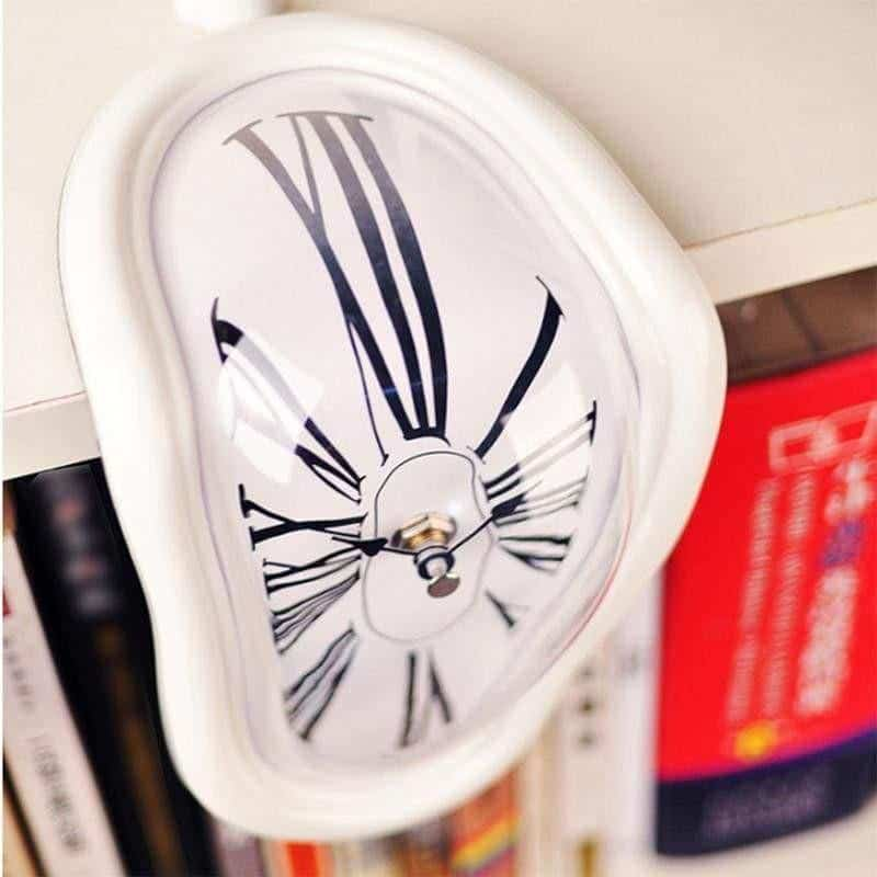 Mysterious Clock | Melting Illusion Clock Clean White