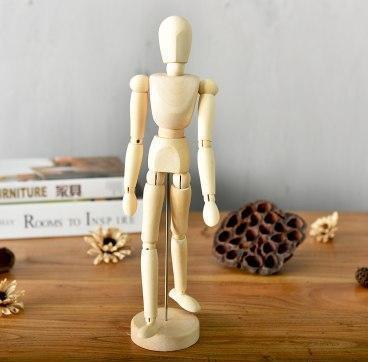 Movana Drottmovable Wooden Figure Decor Naked body