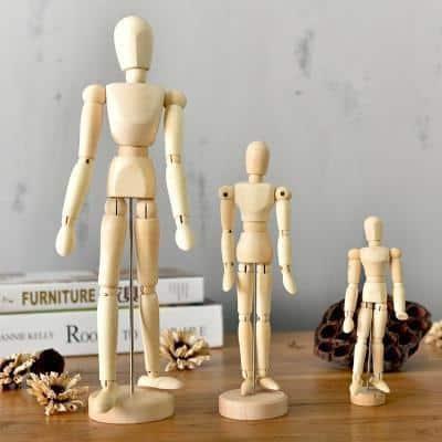 Movana Drottmovable Wooden Figure Decor 3 pcs / body