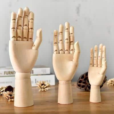 Movana Drottmovable Wooden Figure Decor 3 pcs / hand